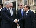 Bill Clinton, George H. W. Bush, George W. Bush and Silvio Berlusconi.jpg