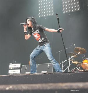 Tokio Hotel - Bill Kaulitz performing in Hessisch-Lichtenau, Germany in 2006.