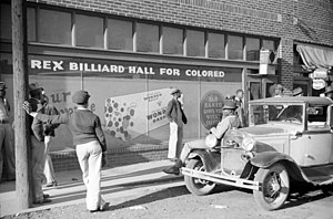 Beale Street - Rex Billiard Hall for Colored, Beale Street, 1939.  Photo by Marion Post Wolcott.