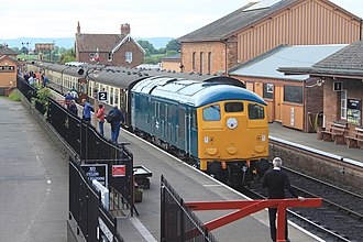 British Rail Class 24 - 5081 at Bishops Lydeard on the West Somerset Railway
