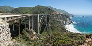 Bixby Creek Bridge - Bixby Creek Bridge from its northern end