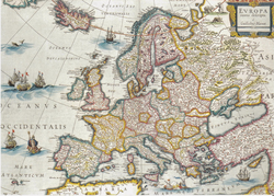 Map of Europe with the Catalan Republic (c. 1641) by Willem Blaeu.