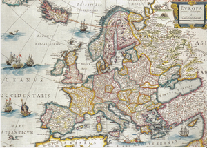 Catalan Republic (1641) - Map of Europe with the Catalan Republic (c. 1641) by Willem Blaeu.
