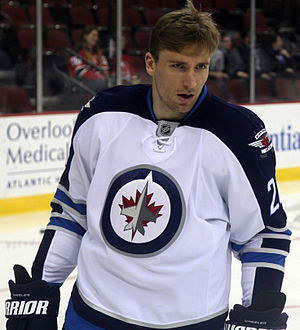 Blake Wheeler - Wheeler as a member of the Winnipeg Jets in 2013.
