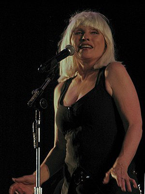 Debbie Harry performing with Blondie at the Zw...
