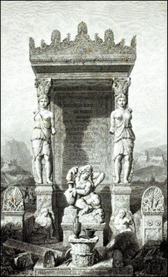 Guillaume-Abel Blouet - Frontispiece of L'Expédition scientifique de Morée edited by Blouet