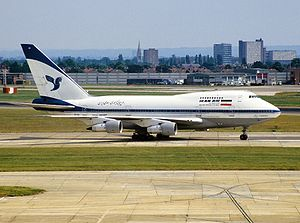 Boeing 747SP - Iran Air 747SP at London Heathrow Airport in 1992