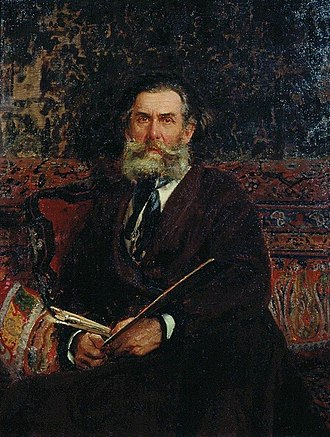 Alexey Bogolyubov - Portrait of Bogolyubov (1876) by Ilya Repin