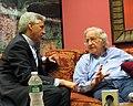 Bolivian Vice President Alvaro Garcia Linera with Noam Chomsky in NYC (8997197336).jpg