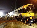 Bombardier Flexity Classic tram delivery on low loader, Hindmarsh, Adelaide, 2006.jpg