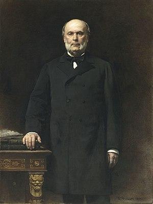 Opportunist Republicans - President Jules Grévy, portrait by Léon Bonnat (1879).