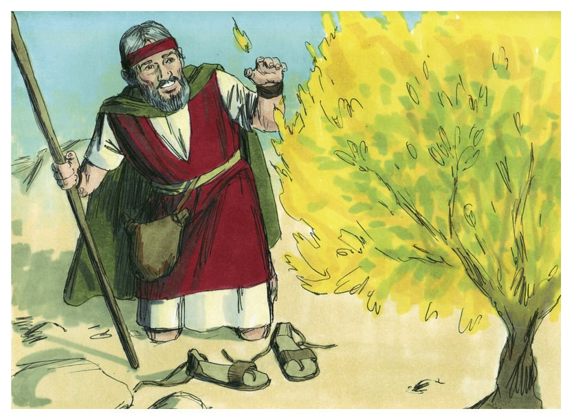 Book of Exodus Chapter 4-4 (Bible Illustrations by Sweet Media)