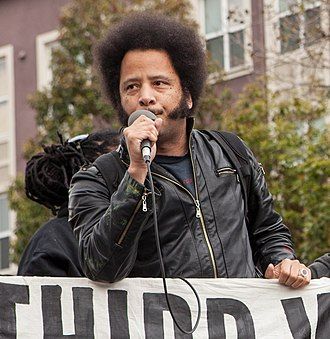 Boots Riley - Riley speaking at a rally for Martin Luther King, Jr. Day, 2017