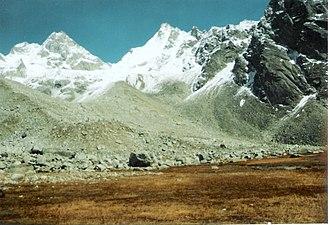 Borasu Pass - Borasu Pass from Rathado campsite