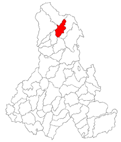 Location of Borsec