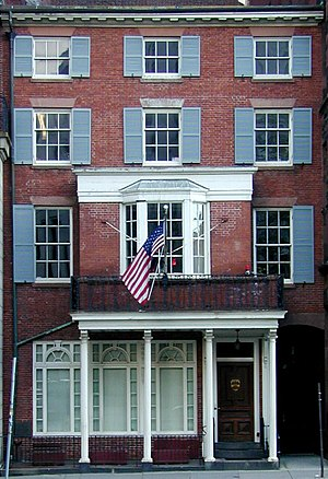 Boston Bar Association - The Chester Harding House, a National Historic Landmark occupied by portrait painter Chester Harding from 1826-1830, now houses the Boston Bar Association.
