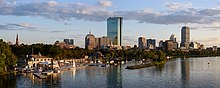 Boston skyline from Longfellow Bridge September 2017 panorama 2.jpg