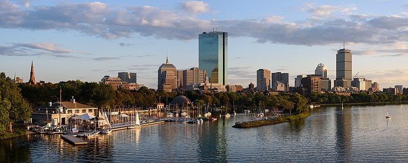 File:Boston skyline from Longfellow Bridge September 2017 panorama 2.jpg