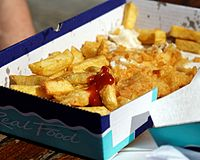 Box of fish 'n' chips Margate Kent England 1.jpg