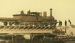 Polish State Railways - A steam engine of the Warsaw–Terespol railway, 1866