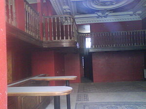 Pharmacy Salvator - The abandoned interior of the Pharmacy Salvator ground floor, as seen in 2012
