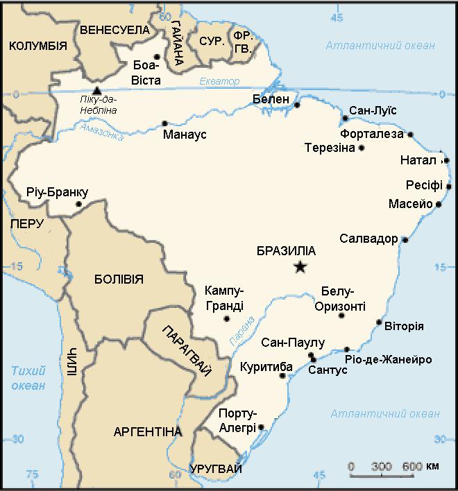 Brazil CIA map uk