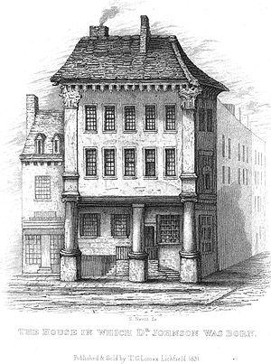Samuel Johnson Birthplace Museum - Johnson's house in 1831