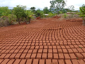 Brickworks - Bricks set out to dry in Songea, Tanzania