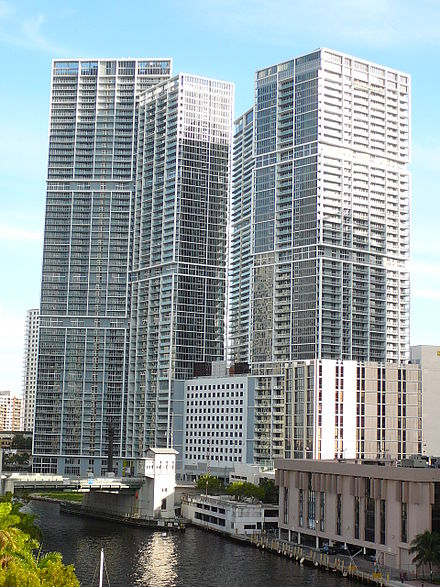 Miami's Brickell neighborhood, is amongst the fastest-growing areas of Miami-Dade County Brickell north entrance.jpg