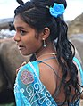 Bridesmaid at Wedding - Medaketiya Beach - Tangalla - Sri Lanka (14089488745).jpg