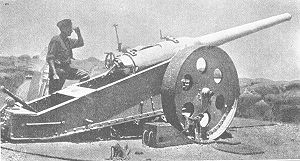 United Nations Transition Assistance Group - A British artillery piece as used in Southwest Africa in 1916