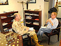 British Broadcasting Corporation reporter Peter Taylor interviews Joint Task Force (JTF) Guantanamo Commander Rear Adm. Jeffery Harbeson at the JTF headquarters, Jan 6. DVIDS357100.jpg
