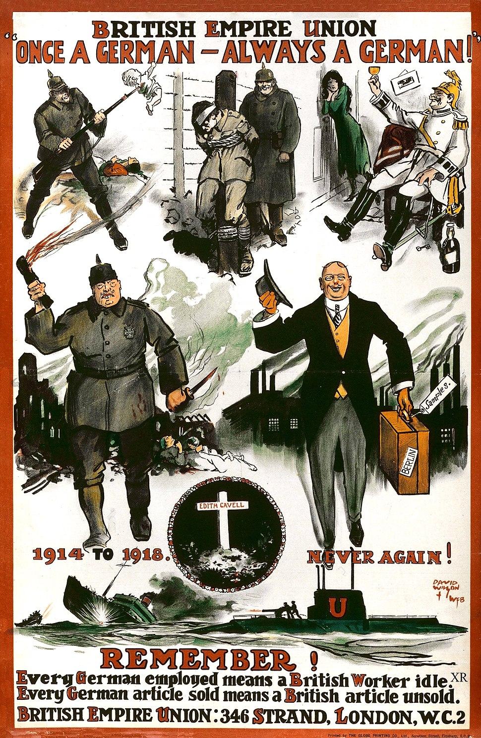 British Empire Union WWI poster