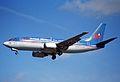 British Midland Airways Boeing 737-300; G-OBMP@LHR;04.04.1997 (4904945122).jpg