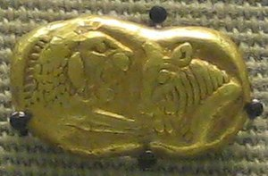 British Museum Department of Coins and Medals - Image: British Museum gold coin of Croesus