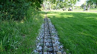 Brockwell Park - The track of the miniature railway