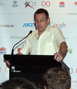 Bruce Notley-Smith - Notley-Smith at a 2012 Sydney Mardi Gras press conference