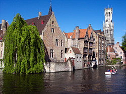 "Also referred to as the ""Venice of the North"", Bruges has many waterways across the city."
