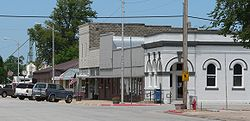 Downtown Bruning: north side of Main Street