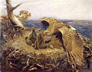Sea Eagle's Nest (1907 painting by Bruno Lilje...