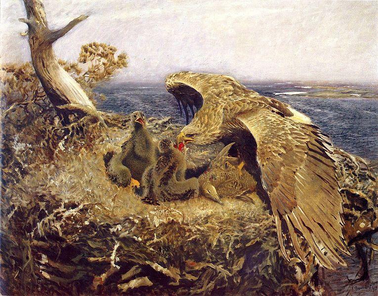 File:Bruno Liljefors - Sea Eagles Nest.jpg