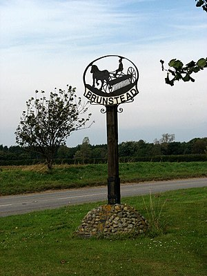 Brumstead - Image: Brunstead Village Sign