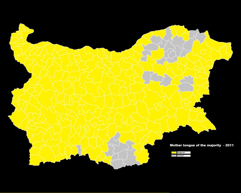 Bulgaria ethnic map