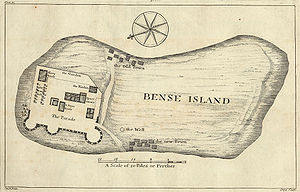 History of Sierra Leone - Map of Bunce Island from 1727