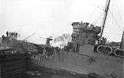 Bundesarchiv Bild 101II-MW-3722-22, St. Nazaire, Zerstörer 'HMS Campbeltown'