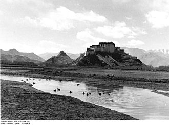 Lhasa River - Potala Palace, Lhasa from the east (1938)