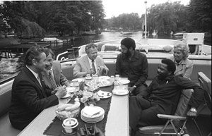 Invasion of Grenada - Maurice Bishop and Foreign Minister Unison Whiteman in East Germany, 1982