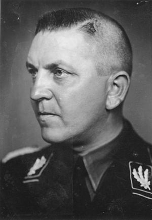Richard Glücks - Concentration Camp Inspector Theodor Eicke to whom Glücks was chief of staff