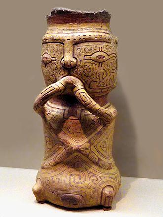 Marajoara culture - Burial urn, American Museum of Natural History