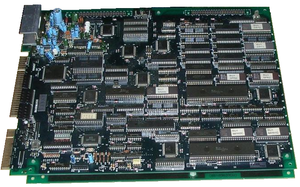 Namco System 2 - Burning Force arcade PCB (1989) - which runs on the Namco System 2